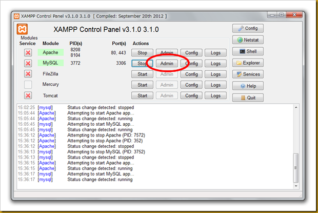 SnapCrab_XAMPP Control Panel v310 310  [ Compiled September 20th 2012 ]_2012-12-20_15-38-36_No-00